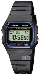 Casio Casio Collection LCD/Resinplast 38.2x33.2 mm F-91W-1YER