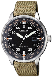 Citizen Eco Drive 180 Svart/Textil Ø42 mm BM7390-14E
