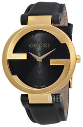 Gucci Interlocking Svart/Läder Ø37 mm YA133326