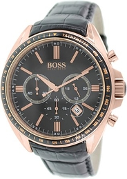 Hugo Boss Chronograph Svart/Läder Ø47 mm 1513092