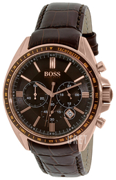 Hugo Boss Driver Brun/Läder Ø43 mm 1513093
