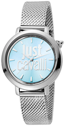 Just Cavalli Logo Blå/Stål Ø34 mm JC1L007M0055