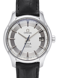 Omega De Ville Hour Vision Co-Axial 41mm Silverfärgad/Läder Ø41 mm 431.33.41.21.02.001