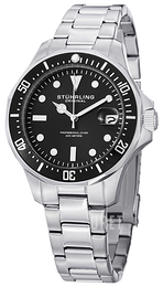 Stührling Original Aquadiver Svart/Stål Ø39 mm 664.01
