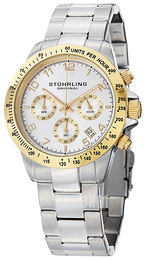Stührling Original Concorso Vit/Stål Ø40 mm 665B.03
