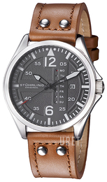 Stührling Original Aviator Grå/Läder Ø44 mm 699.02
