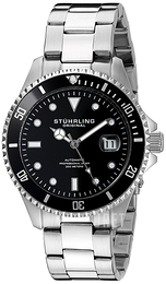 Stührling Original Aquadiver Regatta Svart/Stål Ø42 mm 792.01