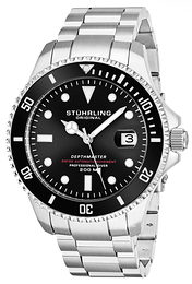 Stührling Original Aquadiver Svart/Stål Ø42 mm 883.01