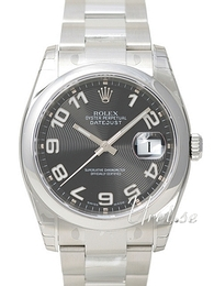 Rolex Datejust Steel Svart/Stål Ø36 mm 116200-0078