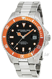 Stührling Original Aquadiver Regatta Svart/Stål Ø42 mm 792.03