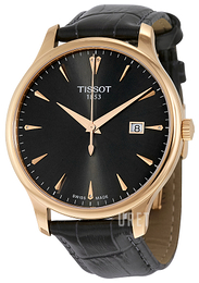 Tissot Tradition Gent Svart/Läder Ø42 mm T063.610.36.086.00